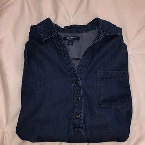Blue jean inspired long sleeve